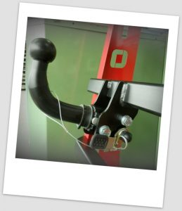 Auto-Hak bola desmontable horizontal (A)